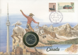 Kanada 1988 Numisbrief 25 Cent (G7339) - 1952-.... Règne D'Elizabeth II
