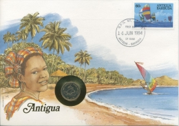 Antigua 1984 Numisbrief Mit 10 Cents 1981 (G7359) - Antigua Und Barbuda (1981-...)