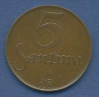 Lettland 5 Santimi 1922 Staatswappen KM 3 (m1077) - Lettland