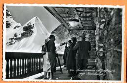 FRS-25 Aussichtterrasse  Auf Jungfraujoch Gegen Mathildenspitze. Belebt. Geleaufen In 1942. Briefmarke Leichtbeschädigt. - BE Berne
