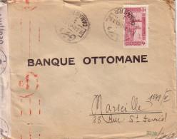 SYRIE - DAMAS - LE 28-3-1941 - ENVELOPPE AVEC CENSURE ALLEMANDE POUR MARSEILLE. - Syrië