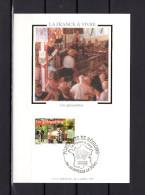 """Carte Maximum En Soie De 2005 N° YT 3770 """" LA FRANCE A VIVRE : LES GUINGUETTES """" En Parfait état. CM - 2000-09"""