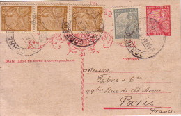 INDE PORTUGUAISE - ENTIER POSTAL AVEC COMPLEMENT  DE NOVA GOA LE 24-5-1938. - Inde Portugaise