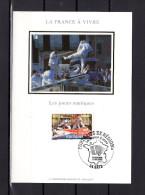 """Carte Maximum En Soie De 2005 N° YT 3767 """" LA FRANCE A VIVRE : LES JOUTES NAUTIQUES """" En Parfait état. CM - Cartes-Maximum"""