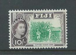 Fiji 1962 QEII 10 Shilling Sugar Cane Definitive MNH Light Even Gum Tone - Fiji (...-1970)