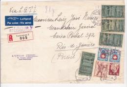SUISSE  1941  BANDE POUR JOURNAL RECOMMANDEE POUR LE BRESIL - Svizzera