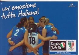 1-Sport-Basket-Pallacanestro-Nazionale Femminile-Promocard 8106 - Volleyball