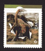 CANADA 2015, #2828   DINOS   Single  From Booklet :  Ornithomimus Edmontonicus, - Ganze Markenheftchen