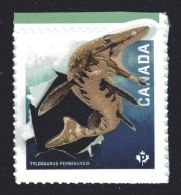 CANADA 2015, #2825   DINOS   Single  From Booklet :  Tylosaurus Pembinensis. - Ganze Markenheftchen