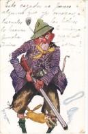 HUNTER CAZADOR FUNNY CIRCULEE TIMBRE ARRACHES 1911 EDI. MONOPOOL SERIE 255/1 GECKO - Stripverhalen