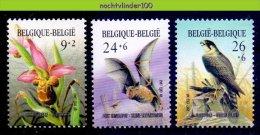 Mfy017 FAUNA VOGELS VLEERMUIZEN BATS CHAUVE SOURIS FLOWERS PROTECTION BIRDS VÖGEL AVES OISEAUX BELGIË 1987 PF/MNH - Vleermuizen