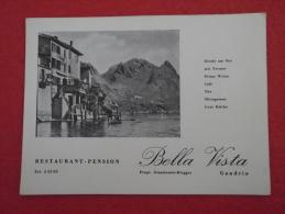 Tessin Ticino  Lago Lugano Gandria Il Ristorante Bella Vista - TI Tessin