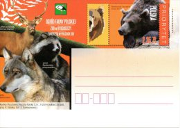 POLOGNE. Entier Postal De 2014. Ours/Loup/Cerf. - Ours
