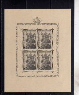 LIECHTENSTEIN 1946 SAINT ST. LUCIUS BLOCK SHEET SAN S. LUCIO PATRONO DEL PRINCIPATO BLOCCO FOGLIETTO MNH - Blocks & Sheetlets & Panes