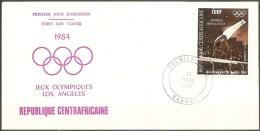 Centrafricaine - Enveloppe 1er Jour Datée Du 13/03/84,timbre Pa299  (bon état) - Ginnastica