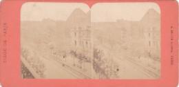 Commune De Paris 1871  Semaine Sanglante Siege De Paris Theatre Et Boulevard De La Porte Saint Martin Canal - Stereo-Photographie