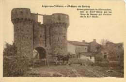 79 ARGENTON CHATEAU - CHATEAU DE SANZAY ( ATTELAGE ) - Argenton Chateau