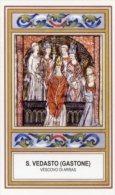 Santino SAN VEDASTO (Gastone) Vescovo Di ARRAS - PERFETTO H88 - Religione & Esoterismo