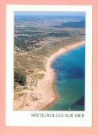 CPM  FRANCE  85  -  BRETIGNOLLES-sur-MER  -  24  Plage Des Dunes, Vue Panoramique Aérienne  ( Combier 80/90 ) - Bretignolles Sur Mer