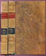 Mme De Stael, Corinne Ou L'Italie, Volumes 1 Et 3, 1817, Jolie Reliure - 1801-1900