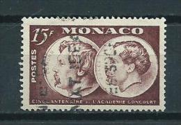 1951 Monaco 15 Fr. Academie Goncourt Used/gebruikt/oblitere - Monaco
