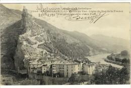 Carte Postale Ancienne Entrevaux - Vallée Du Var. Ligne Du Sud De La France. Vue Générale Et Le Vieux Fort - Autres Communes