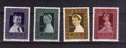 LIECHTENSTEIN 1955 RED CROSS CROIX ROUGE CROCE ROSSA PRINCE PRINCIPINI COMPLETE SET SERIE MNH - Liechtenstein