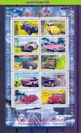 Mub144b TRANSPORT OUDE AUTO CLASSIC CAR ALTE AUTOS VOITURES CLASSIQUES FRANCE 2000 PF/MNH - Auto's