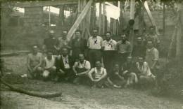 Carte Photo Artisans De CHALUS Participant à Construction De La Colonie De Saint Georges De Didonne De1949 à 1950 - Chalus