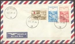Turquie - Enveloppe Datée Du 13/01/57,timbres 1295/1296-1320   (bon état) - Altri