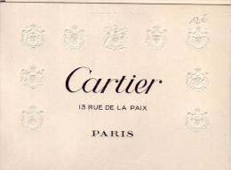 DEPLIANT      CARTIER    EXPOSITION - Old Paper