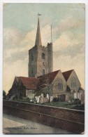 ENGLAND ~ The Church ASH (Dover) Kent 1911 Local Publisher To USA - Dover