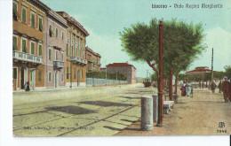 Cpa Livorno Viale Regina Margherita Tramway - Livorno