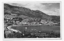 MONACO - N° 1406 - LE PORT - VUE SUR MONTE CARLO - CARTE FORMAT CPA NON VOYAGEE - Puerto