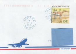 R] Enveloppe Cover Niger Faune Prehistorique Prehistoric Fauna Jobaria Tiguidensis - Timbres