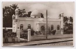 TRINIDAD ~ RPPC Indian Mosque BRITISH WEST INDIES Port Of Spain C1940 Postcard - Trinidad