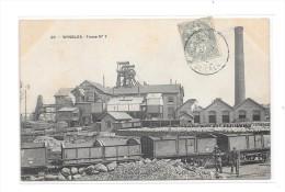 62 - WINGLES - Fosse N° 7 , Thème Métiers, Mines, - France