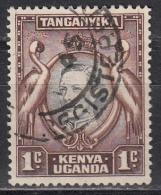 Kenya, Uganda & Tanzania, 1938/54 - 1c  Kavirondo Cranes - Nr.66 Usato° - Kenia (1963-...)