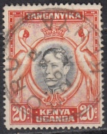 Kenya, Uganda & Tanzania, 1941 - 20c  Kavirondo Cranes, Perf. 14 - Nr.74d Usato° - Kenia (1963-...)