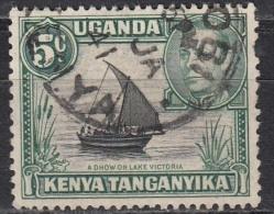 Kenya, Uganda & Tanzania, 1938-54 - 5c  Dhow On Lake  Victoria - Nr.67 Usato° - Kenia (1963-...)