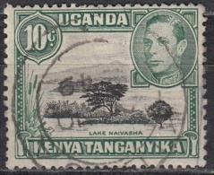 Kenya, Uganda & Tanzania, 1938-54 - 10c  Lake Naivasha, Perf. 13x11 1,2 - Nr.70 Usato° - Kenia (1963-...)