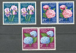 1959 LUXEMBOURG BAD MONDORF FLOWER FESTIVAL MICHEL: 606-608 PAIRS MNH ** - Luxemburg