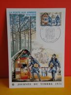 FDC- Carte Maxi, Journée Du Timbre 1971, Poste Des Armées 14/18 -  92 Courbevoie - 27.3.1971-1er Jour,Coté 2,50 € - Cartes-Maximum