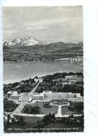 Suisse - Genêve : Le Nouveau Palais Des Nations Et Le Mont Blanc (n°7037 Dentelée) - GE Geneva
