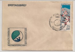 DDR, 1973, Oberhof, Sledding World Championship, FDC, Berlin, 13-2-73 - Inverno