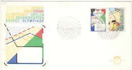 OLANDA - NEDERLAND - Paesi Bassi - 1980 - OLYMPISCHE SPELEN VOOR GEHANDICAPTEN - BRIDGE OLYMPIADE - FDC - FDC