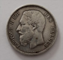 5 FRANCS 1869   ARGENT SILVER  POIDS 25 GR    QUALITE - 1865-1909: Leopoldo II