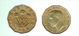 81 A - George VI Sur Pièce De Monnaie De 1949 - Chaque Fleur Comprend 3 POINTS Bien Marqués !!