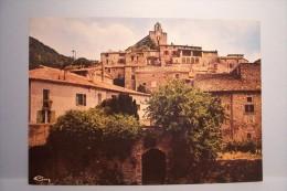 PONT-DE- BARRET ---Vieux Village , Le Pont Sur Le Roubion Et La Vieille église - Otros Municipios