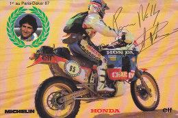 Ar - CPM Dédicacée Cyril Neveu - 1er Au Paris Dakar 1987 - Motociclismo